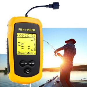 Fish Finder 100M LCD Alarm Sonar Depth Sensor Portable Fishfinder Transducer