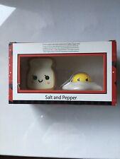 Ceramic Egg and Toast Salt Pepper Shakers in Gift Box