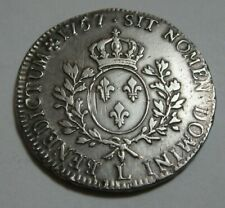 More details for 1757 king louis xv france 1 ecu silver
