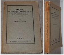 Geschichte der bayerischen Franziskanerprovinz zum hl. Antonius von Padua / 1926