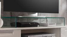 Verre Télévision Scène glaspodest Meuble télé pour de et table 87 cm