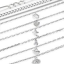 echt 925 STERLINGSILBER Kette Armkette Armband Fußkette Fußkettchen MASSIV NEU