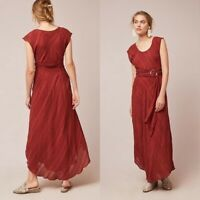 NWT $158 Anthropologie Guinevere Maxi Dress By Moulinette Soeurs Size 4 Rust NEW
