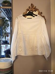 MONOPRIX 40 JOLIE BLOUSE AMPLE BRODERIE ANGLAISE TBE