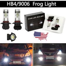 2 x HB4 9006 LED High Power 2323 100W Super White DRL Fog Light Lamp Bulbs 6000K