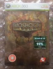 BRAND NEW FACTORY SEALED BIOSHOCK LIMITED EDITION STEELBOOK XBOX 360 TIN CASE