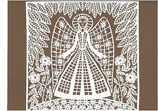 """Nature's Angel"" Papercut Scherenschnitte by Traditional Lithuanian Artist"
