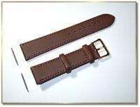 Lederuhrenarmband braun 22mm breit, 2,5mm dick, schnelle Lieferung (824)
