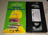 VHS Sesame Street Getting Ready to Read Big Bird Kids Educational Tested RARE