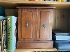 Victorian Mahogany Collectors Cabinet With Six Internal Drawers