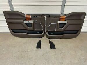 2015-2020 FORD F150 F250 F350 KING RANCH CREW CAB DOOR PANELS FRONT REAR 2017