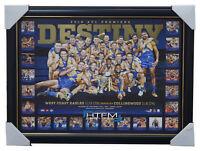 West Coast Eagles 2018 Premiers Deluxe DESTINY Official AFL Print Frame Hurn