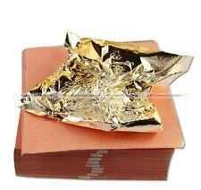 100 Sheet 14x14cm Imitation Gold Leaf Foil Transfer Leaf Surface Gilding New S2