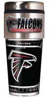 Atlanta Falcons Coffee Mug Travel Tumbler Cup NFL Metallic Logo w/ Emblem