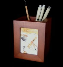 ACEO picture frame for 2.5 x 3.5 art - WALNUT PENCIL HOLDER - single opening