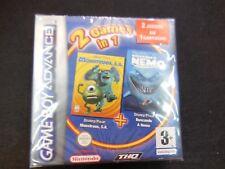 Monstruos S.A. +Buscando a Nemo nuevo y precintado gameboy advance