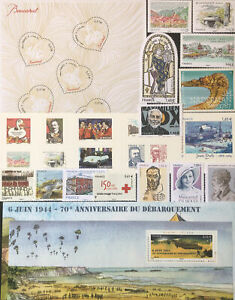 Timbres France Neufs 2014 - Lot timbres, Blocs, Carnet - Faciale 23,92€