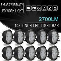 "10PCS 4"" 27w Led Work Light Fog Lamps For Allis Chalmers Tractor D12 D15 D17 160"