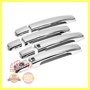 FOR NISSAN ALTIMA SENTRA FRONTIER MAXIMA CHROME DOOR HANDLE COVERS W/SMART HOLE