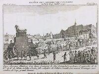 Voltaire retour des Cendres 1791 Paris pendant la Révolution Française Panthéon