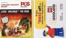 Malaysia 2016 Legoland Garden Flower Definitive stamp booklet MNH