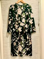 Dolce & Gabbana Floral Print Long Sleeve Midi Sheath Dress 42 (US 6)