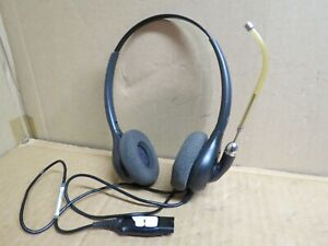 Used Plantronics HW261H H261H Binaural headset good condition tested