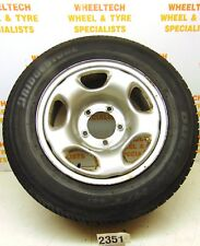 SUZUKI GRAND VITARA STEEL WHEEL & TYRE 235/60R16 AROUND 8MM TREAD LEFT