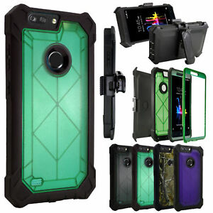 Built in Screen Case 360°Cover Crystal Holster For ZTE Blade Z MAX /Z982