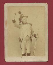 Fotografia all'Albumina Sergente di Fanteria Napoleonica Teatro 1880