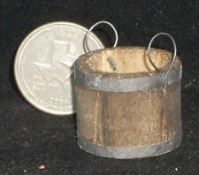 Dollhouse Miniature Weathered Western Wooden Bucket 1:12 Mexican Wo1909(2Handle)