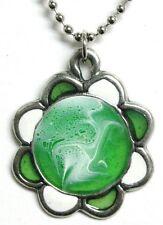 Sherbet Flower #2 pendant (green)
