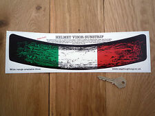 ITALIAN Flag Worn Distressed HELMET VISOR SUNSTRIP Sticker Race Car Bike Italy