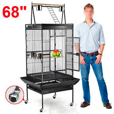 "68"" Bird Cage Large Play Top Parrot Finch Cage Macaw Cockatoo Pet Supply"