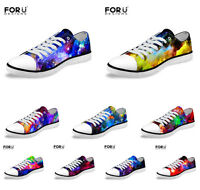 Men's Women Casual Walking Canvas Shoes Low Top Skateboard Flat Trainers 35-45