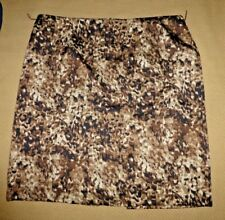 Cato Skirt Brown Floral Lined Polyester Size 14 NEW