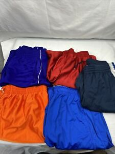 Lot Of 5 Nike MENS Large L Baggy Basketball Running SHORTS Nice