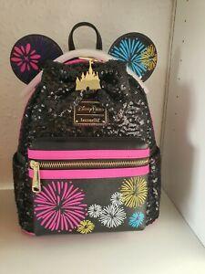 Loungefly Minnie Mouse Disney Fireworks Bag MMMA 12/12 December BNWT