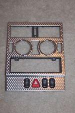 98-04 MERCEDES SLK230 DASH RADIO BEZEL TRIM cubbie slk320 chrome silver metal