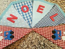 PERSONALISED BUNTING- STEAM TRAINS-RED WHITE & BLUE MIX -£1 PER FLAG, FREE P&P
