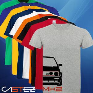 Camiseta coche racing rally tuning drift golf mk2 gti vw (ENVIO 24/48h)