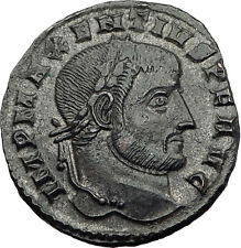 MAXENTIUS 308AD Temple of Eternal Rome Authentic Ancient Roman Coin i63496