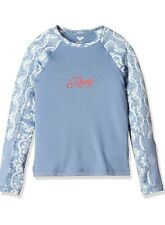 Kids Girls UPF50+ Rash Guard Sun Shirt Swimsuit Quick-dry Long Sleeve top 8-10 Y