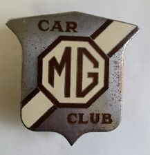 MG CAR CLUB LICENSE PLATE TOPPER AUTOMOTIVE BADGE EMBLEM ORNAMENT PORCELAIN