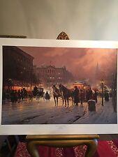 G Harvey - Horse Trolley On Park Row,  S/N Ed., New, Mint