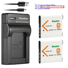 Kastar Battery Slim Charger for Sony NP-BN1 BC-CSN & Sony Cyber-shot DSC-W350