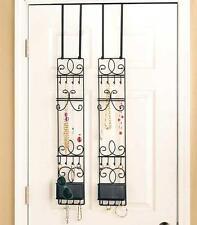 NEW Over the Door Metal Multi Purpose Jewelry Valet Storage Organizer Rack