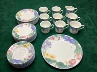 Lot of 33 pcs Mikasa spring legacy bone China dinnerware  Japan