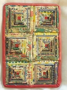 Vintage Artisan Wall Hanging Concentric Half Squares Quilt Dollhouse Miniature