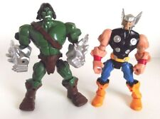 Marvel Super Hero Mashers Action Figures Savage Hulk (Skarr) And Thor Set
